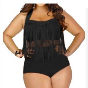 Fringe Bathing Suit Top